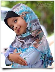My Little Princess (AnNamir c[_]) Tags: portrait baby cute kids canon eos 50mm bokeh muslim islam hijab muslimah 7d f22 budak f18 aliya kiut pipah hbw happybokehwednesday annamir flowerofislam kasyifah sahabatsejati islamcultureandpeople getokubicom 2010election