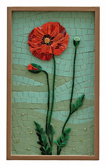 Crystal Thomas (Lin Schorr) Tags: art mosaic giving fundraising donations mdecinssansfrontires doctorswithoutborders onlineauction mosaicart crystalthomas 3poppies linschorr artdonations linschorrcom mosaicauction mosaicdonations