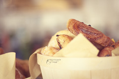 Good morning! (dhmig) Tags: flowers food flower breakfast 50mm bokeh croissants dhmig dhmigphotography