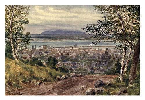 020-Montreal-rio St Lawrence desde la montaña-Canada-1907- Thomas Martin Mower.