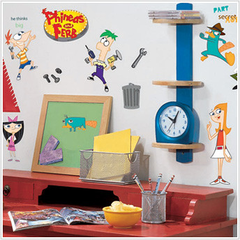 phineas and ferb kids decals 4
