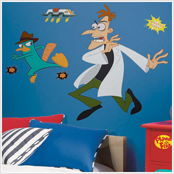 phineas and ferb kids decals