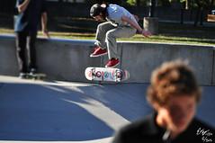 Tre-Flip Off The Bank (Evan Brown Photography) Tags: park wood contrast woodland blurry skateboarding lexington kentucky flip land skater tre skape