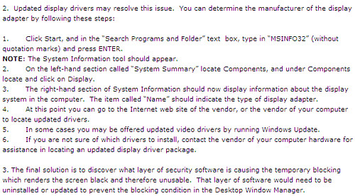 how to fix black sreen of death in windows 7