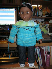 Try it on (Nethilia) Tags: sonali socks sweater knitting americangirl