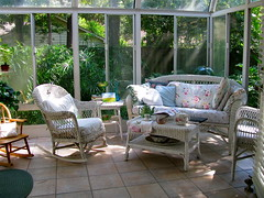 My Favorite Reading Spot (nbklx17 (Sandy)) Tags: cozy antique sunny wicker decor cottagestyle homesweethome sunroom comfy thewoodlands shabbychic mytreasures beautifulweather myeverydaylife cottagelook cornersofmyhome ilovetoread cottagedecor brightandairy sunnylittlesunroom