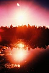 ((A)narchy) Tags: sunset sun reflection nature finland island islands seaside xpro fuji purple velvia anarchy t3 yashica archipelago åland fujivelvia100 catchycolorspurple yashicat3 aaland