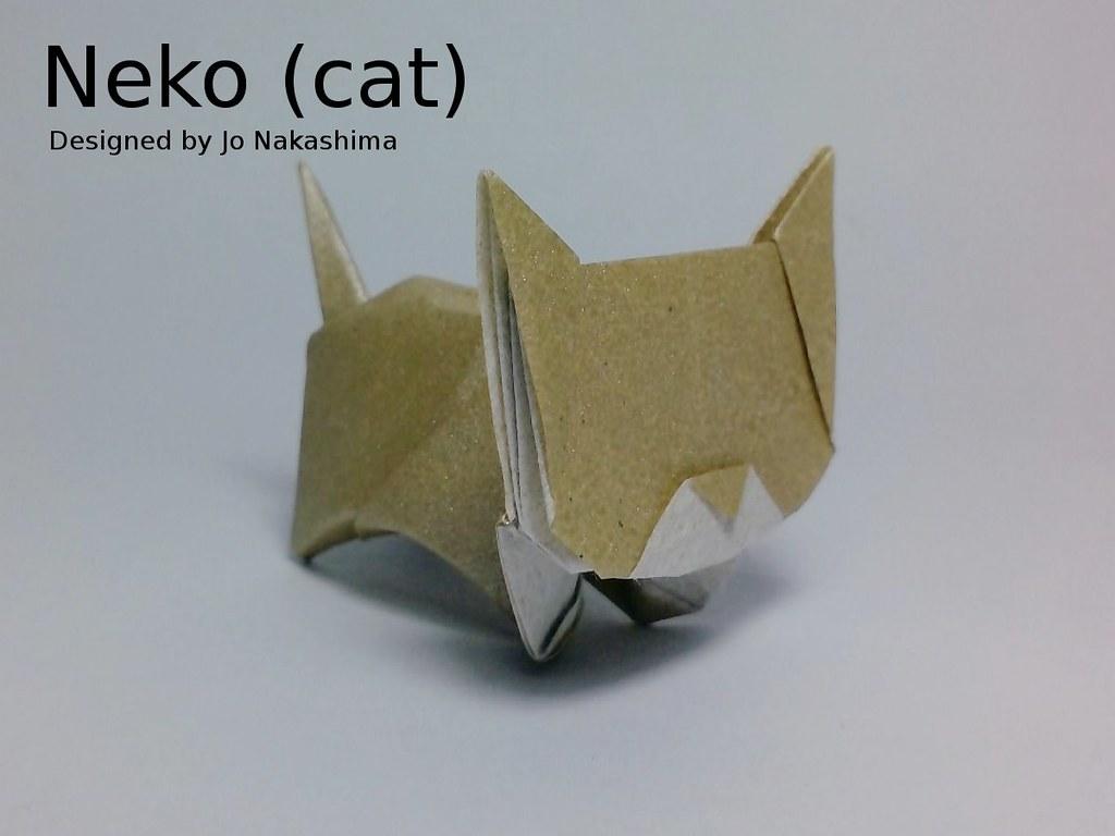 Neko Cat Jo Nakashima Tags Origami Jonakashima