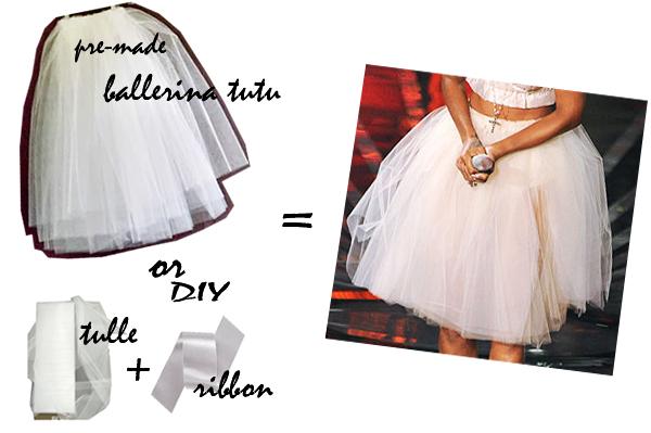 DIY RIHANNA HALLOWEEN COSTUME-3, ballerina tutu