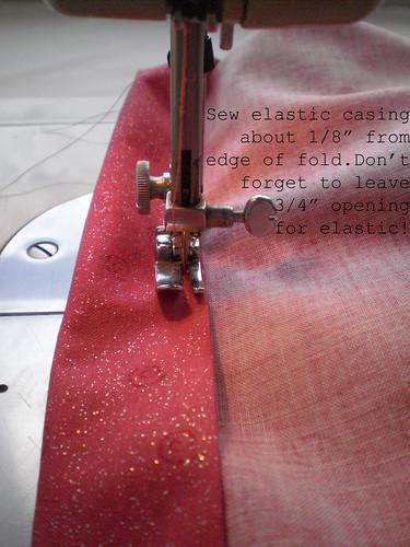 Sew casing.