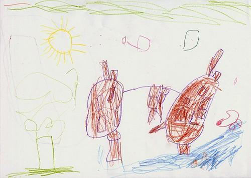 Drawing of Bodiam Castle