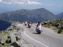 Motorcycles on the Mt.Washington Auto Road