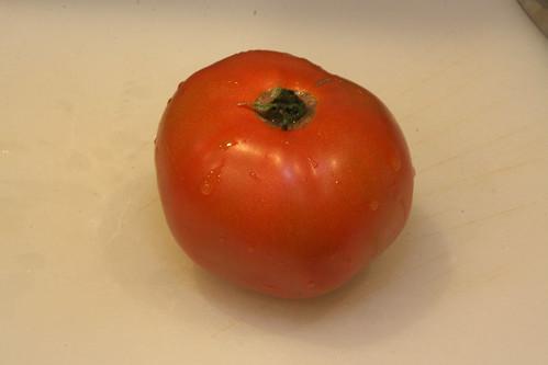 Tomato, ripe, glistening