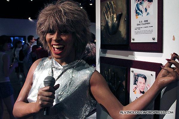 Tina Turner - her figurine was chucked away in a forgotten corner