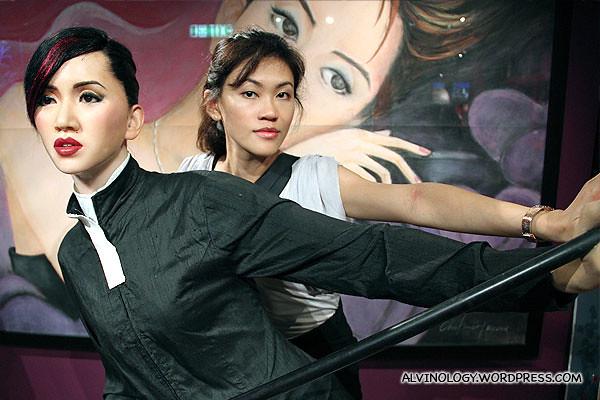 Rachel with Anita Mui