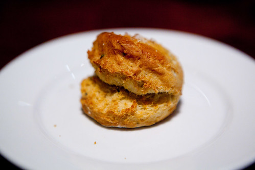 Warm onion and herb biscuit