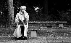 Lonely and Sad (Iam Marjon Bleeker) Tags: woman holland amsterdam lady sad lonely vrouw oosterpark eenzaam verdriet lonelywoman ingeborgadam077ge