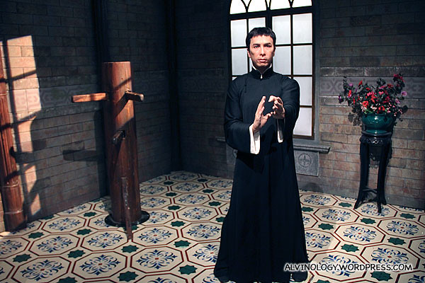 Donnie Yen as Ip Man - this is one of the most popular attraction at Madame Tussuad's, we have to queue to take a photo