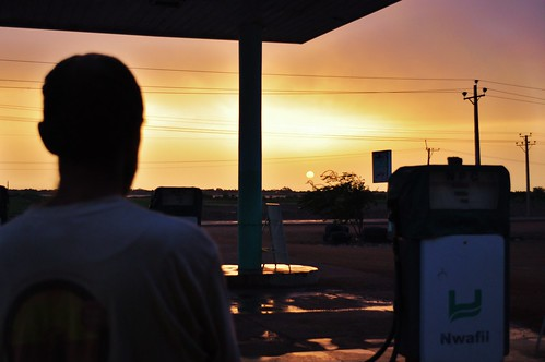 Petrol Station Sunrise