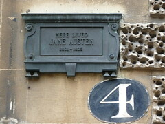 Photo of Jane Austen bronze plaque