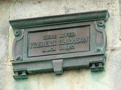 Photo of Frederic Harrison bronze plaque