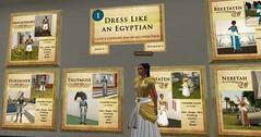 I choose to dress my Avatar as Meritaten the eldest daughter of Pharaoh Akhenaten and Queen Nefertiti (mharrsch) Tags: ancient avatar egypt 18thdynasty nefertiti akhenaten virtualworld meritaten amarna virtualenvironment mharrsch akhetaten heritagekey