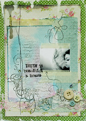 Truth is beautiful and brave. (ania-maria) Tags: truth page ils artjournal ecoline