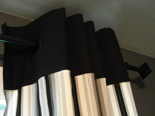 The Pursuit of Happiness: DIY Grommet Man Cave Curtains