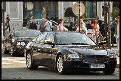Maserati-bentley (Max.photographies) Tags: paris nikon automobile duo continental convertible bentley maserati 2010 mondial quattroporte 70300 d5000 091010