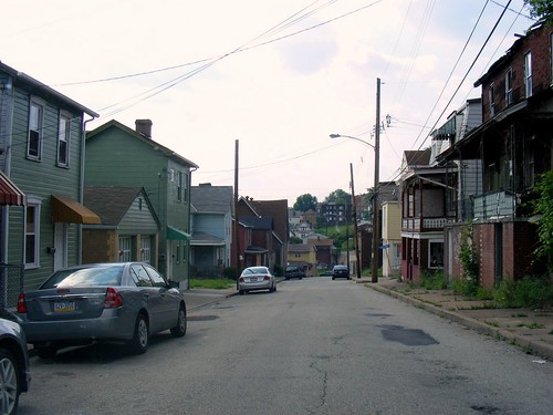 a street in Braddock (by: Sean Marshall, creative commons license)