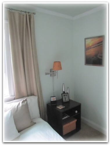 Bedroom Corner with Custom Sunrise Photo