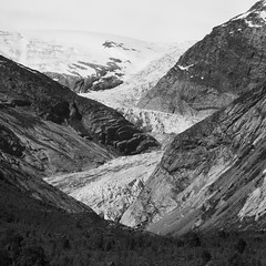 Z II (crazyhorse_mk) Tags: bw mountain ice nature norway rock forest canon landscape norge blackwhite glacier valley promisedland soundtrack jostedalsbreen queensryche sognogfjordane jostedal eos400d endbeginning nigarsbreen