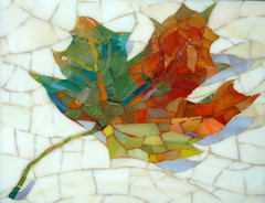 The Gift (Carol Shelkin, Artist) Tags: autumn art fall philadelphia leaf mosaic stainedglass commissions wwwcarolshelkinmosaicscom carolshelkin carolshelkinmosaics carolshelkinmosaic