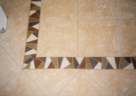 dining room tile floor detail