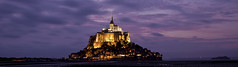 Panoramic version of Saint-Michel (seryani) Tags: longexposure sunset sea mountain france church water abbey night canon river island eos bay coast mar twilight europe cathedral dusk magic tide ile bretagne unescoworldheritagesite unesco mount 5d bluehour lowtide stmichel benedictine soir isle normandy nuit isla nocturne canonef2470mmf28lusm 2470l nit anochecer hightide montstmichel montsaintmichel stmichaelsmount saintmichel marea saintmichaelsmount couesnon nocturnes lemontsaintmichel 2470 noctambule francelandscapes bahie canoneos5dmarkii 5dmarkii bretana