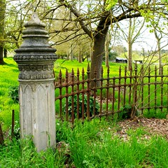 Gatepost   Oakbank (Daniel Tindale) Tags: road trees brown detail green heritage history texture abandoned field stone rural fence square landscape grey countryside spring rust gate iron afternoon post pentax native decay farm daniel south country farming rustic pillar australian ruin formal rusty australia farmland hills valley gateway adelaide sa roadside ornate pastoral southaustralia derelict decayed sheds sculpted paddock gatepost wrought adelaidehills onkaparinga oakbank tindale wooside k20d danieltindale