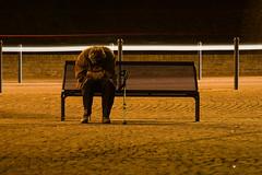 brividi di freddo (Simone Dovigo) Tags: light orange bench homeless ferrara freddo arancione 2010 panchina