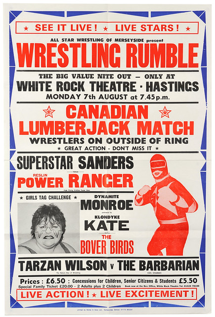 wrestling poster, hastings