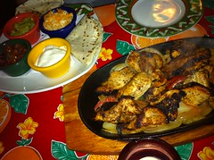 Chicken fajitas at Miros Cantina Mexicana, Edinburgh