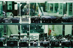 '- (june1777) Tags: street camera window shop zeiss fuji superia snap contax 400 carl seoul g2 f2 kyocera 45mm planar xtra chungmuro gplanar wooricamera