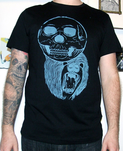 Skullbear Tee Green/Blue