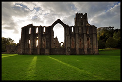 shadows (davep90) Tags: world sculpture heritage water abbey statue gardens architecture nikon angle yorkshire wide ruin royal sigma arches monastery national monks nd trust georgian p fountains vaulted grad cistercian 1020 cloisters folly sculptor ceilings dales cokin studley d90 davep90