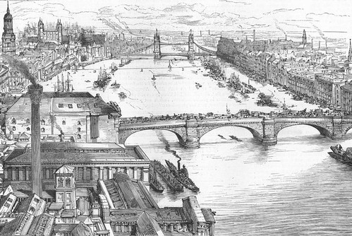 Drawing of the proposed Tower Bridge