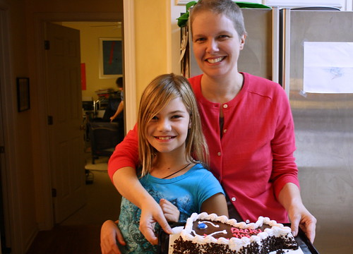 laura and me with cake