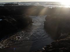 Sunny Beach View (dandlymambly) Tags: ocean autumn fall beach oregon coast october hiking tidepools tidal 2010