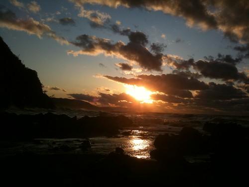 太陽が沈む