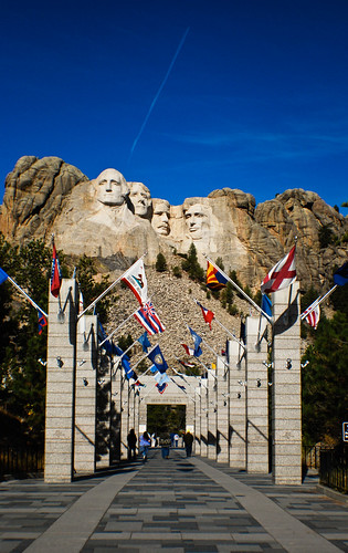 rushmore with flags-0008