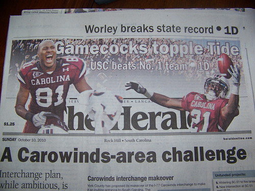 101009 USC v Alabama 22 - newspaper