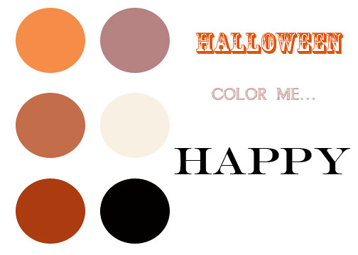 color palette halloween