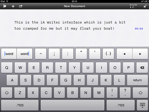 iPad Screenshot - iA Writer